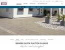Släta plattor, fasade på webbplats