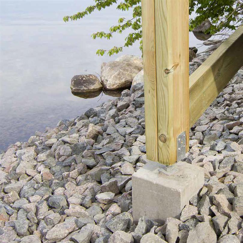 Bender Plint  med justerbar stolpsko