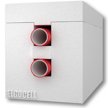 Elgocell 2-rörskulvert för värme