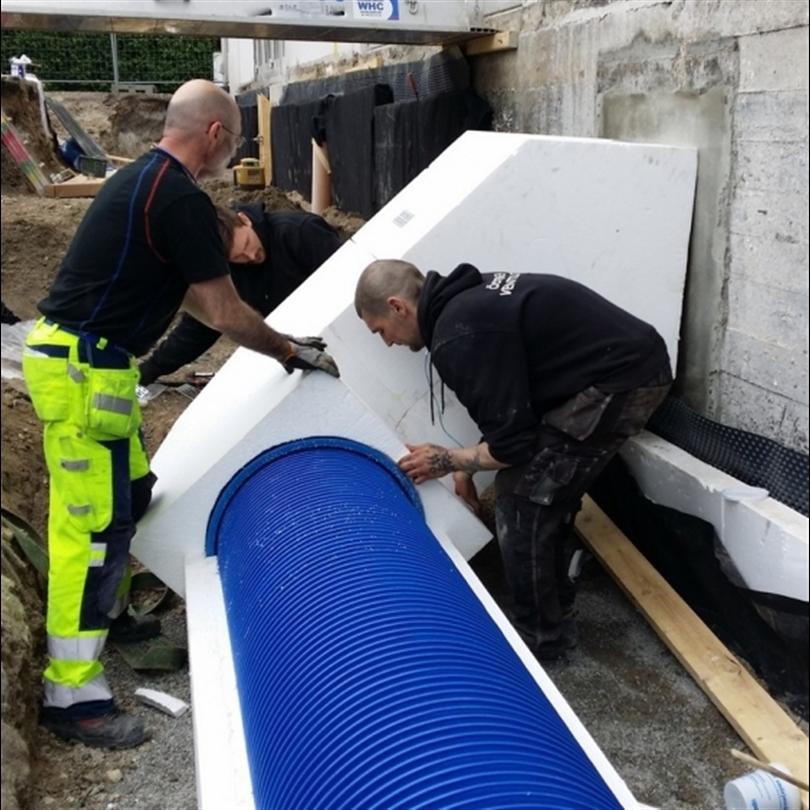 EPS PIPE™ - VENT ventilationsrörsisolering, Baltiska Hallen, Malmö