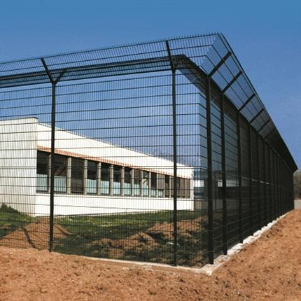 Heras Pallas stålnätspaneler med överklättringsskydd