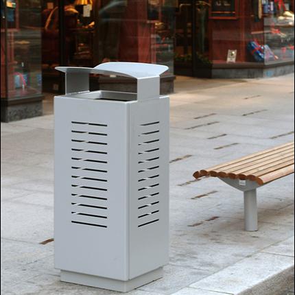 Box avfallsbehållare