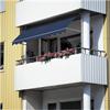 Balkongmarkis för solskydd, kompakt fallarmsmarkis, justerbar markis, för inbyggda balkonger