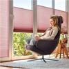 Styra Duette plisségardin för solskydd, ljusreglering, mörkläggning, insynsskydd, isolerande egenskaper, frihängande, mellanglas