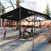 Duo Terrassmarkis, fristående konstruktion, reglerbar, fristående solskydd