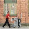 Fastighetsvagnen med punkteringsfria hjul
