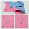 MicronQuick - Instruktionsduk med bilder, röd för toalett, blå för övrig inredning