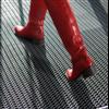 Vileda V-Mat Eco skrapmatta, röda stövlar