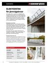 Hammerglass Elskyddstak för järnvägsbroar