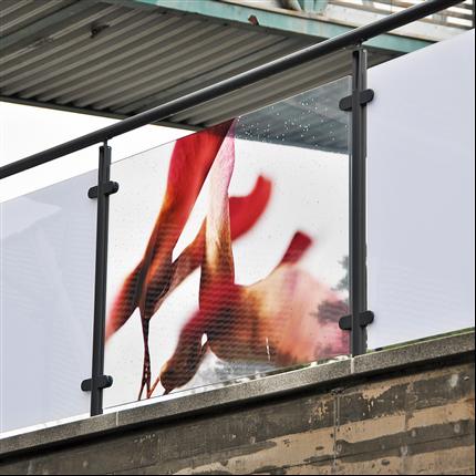 Hammerglass Räcken med  digitalt 4-färgstryck