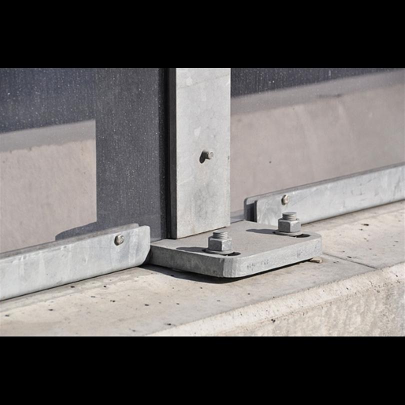 Bullerskydd, System Mark-2 på stödmur