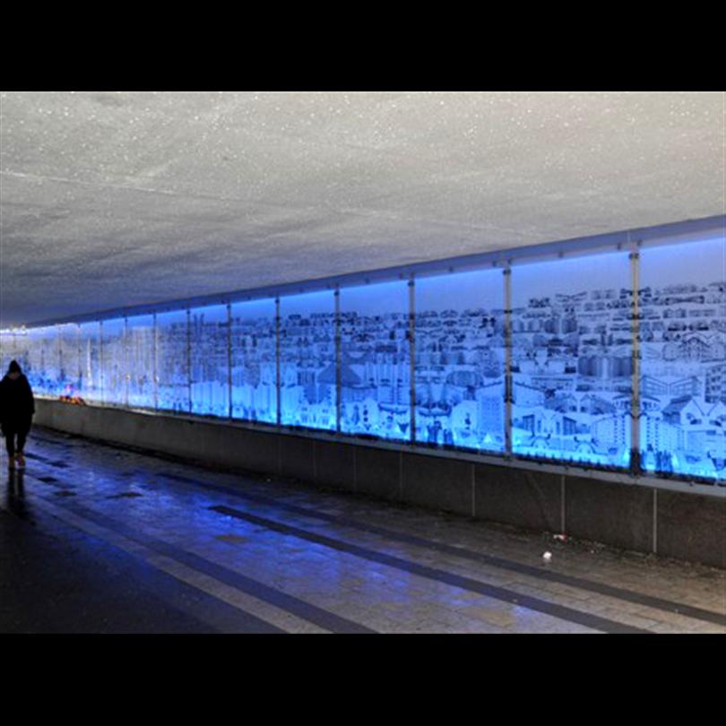 Hammerglass GC-Tunnel, Täby