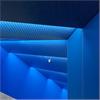 Woodsafe Pro brandskyddsimpregnerade akustikpaneler i trappa