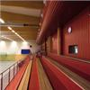 Woodsafe Pro brandskyddsimpregnerade träpaneler i sporthall