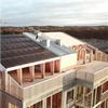 Woodsafe Exterior WFX brandskyddsimpregnerade träpaneler på tak, Mälarstrand