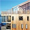 Woodsafe Exterior WFX brandskyddsimpregnerade träpaneler på tak, Öster Mälarstrand