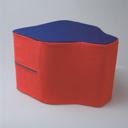 Cadiform Sittkudde Cadi, röd/blå