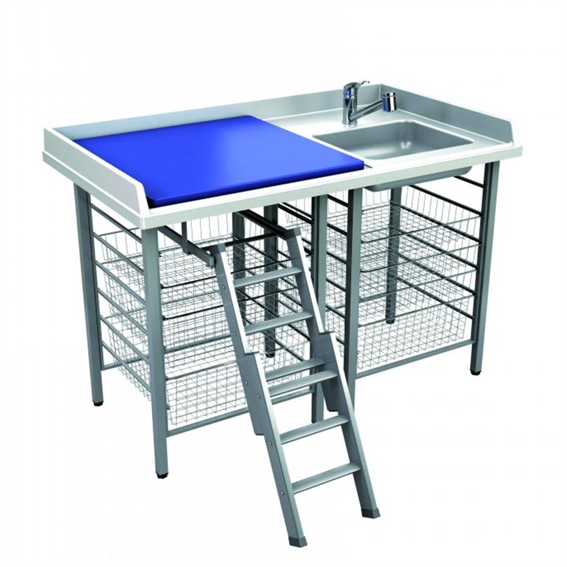 Cadiform fast skötbord med vask