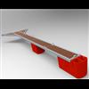 SvP gångbara Y-bommar, med röda flottörer och trädäck