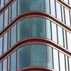 Kopparklädda, fasta träfönster, SEB kontor, Köpenhamn