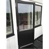 Fönsterdörr med slät fyllning, svartlaserad ek