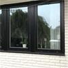 Vridfönster av svartlaserad ek