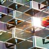 Soltech Facade Semitransparent solcellsfasader på parkeringshus, Vallastaden