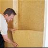 Steico flex träfiberisolering i vägg