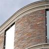 Kynningsrud Prefabricerad tegelfasad med rundad form, Piren², Göteborg