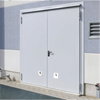 Ljudisolerande dörr dw 67-2 med tjockfals, Rw 55 dB