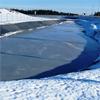 Elastoseal geomembran, Winter