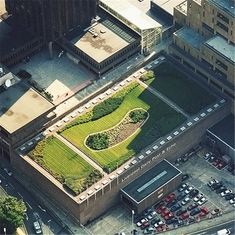 Prelasti taksystem, Green roof, Liverpool-UK