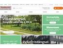 Stålnätspanel på webbplats