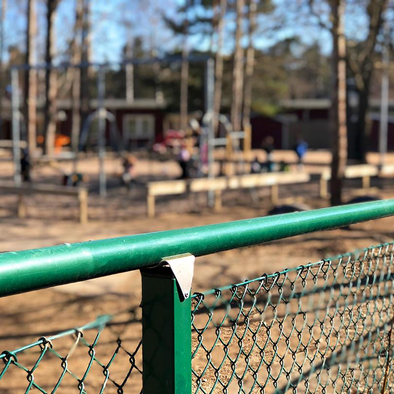 Stängsel för förskola/skola/barnstuga