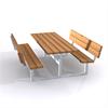 Tress Bänkbord dubbel med ryggstöd