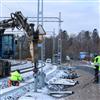 TerraWing montering av vingfundament längs järnväg