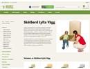 Lyfta Vägg skötbord på webbplats
