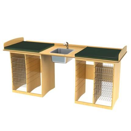 Jeltec skötbord Björk 220, björk