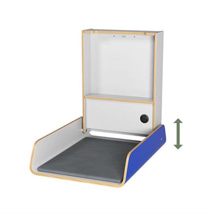 Jeltec Endra elektriskt väggskötbord, blå