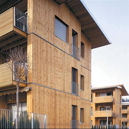 KLH massivträelement för bostadshus
