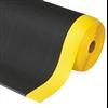 Airug Pebble halksäker komfortmatta med apelsinskalsmönster och gul kant