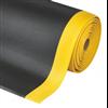 Sof-tred Crossrib komfortmatta med tvärgående ribbor och gul kant