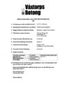 Prestandadeklaration betongblock 104