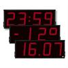 Westerstrand Digitala LED-ur med tid, temperatur och datum för utomhusbruk