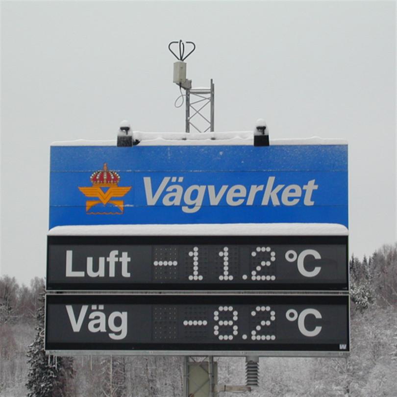 Westerstrand Informationstavla, temperaturtavla-/display