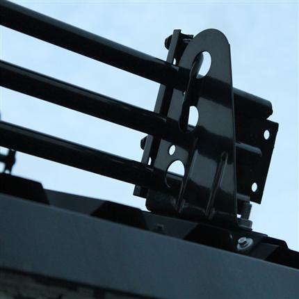 PW 3-rörs snörasskydd/snögrind, svart