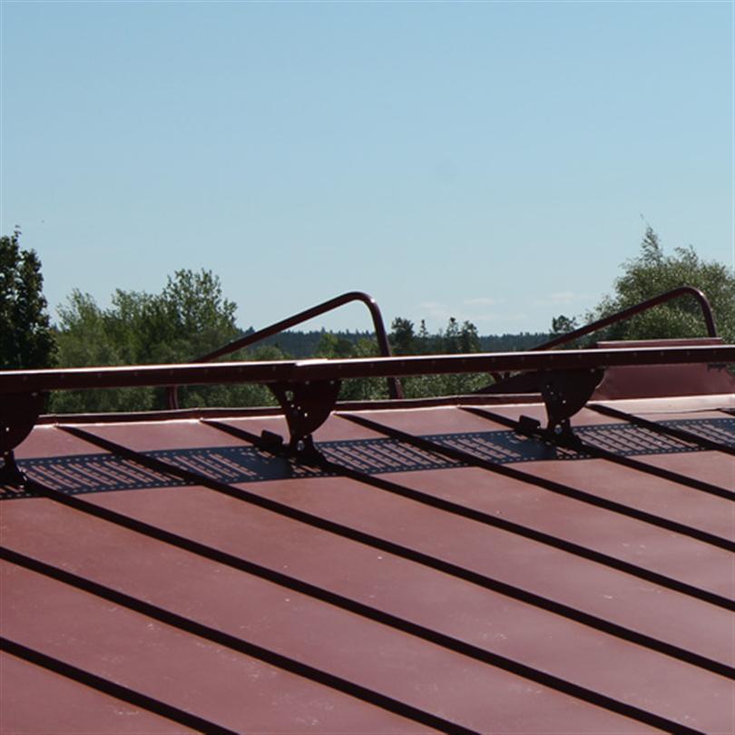 PW takbrygga och skyddsräcken