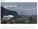 Plannja takavvattning på webbplats