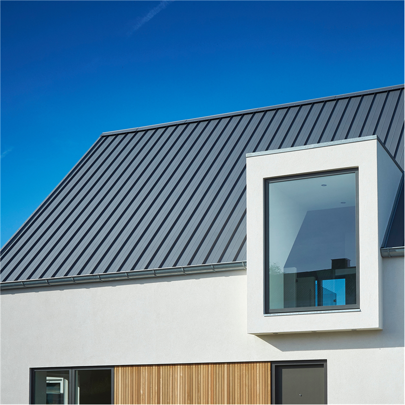 Takplåt, lättmonterat tak utan synliga skruvar