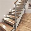 ATAB design Ovanpåliggande trätrappor, plansteg i lackad ek helstav